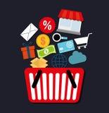 Mercado de Digitas e vendas em linha Imagens de Stock