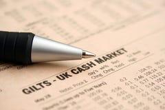 Mercado de dinheiro BRITÂNICO Foto de Stock