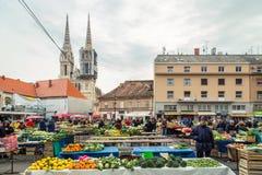 Mercado de Dolac Imagenes de archivo