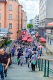Mercado de Dolac en Zagreb imagen de archivo
