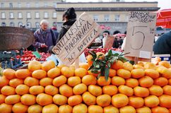 Mercado de Dolac, Zagreb, Croacia fotos de archivo