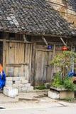 Mercado de Dong Van los pueblos de Hmong situados en Dong Van District, Dong Van Imagen de archivo