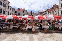 Mercado de Dubrovnik Foto de Stock Royalty Free