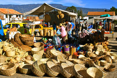 Mercado de Farmer´s, Villa de Leyva, Colombia Fotos de archivo libres de regalías