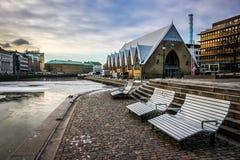 Mercado de FeskekÃ'rka fuera de la visión Goteburgo Suecia Fotos de archivo libres de regalías