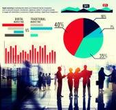 Mercado de finanzas del análisis de las estadísticas del gráfico del márketing de Digitaces Conce imagenes de archivo