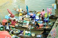 Mercado de flutuação imagens de stock