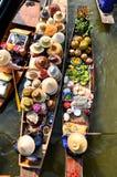 Mercado de flutuação Imagem de Stock Royalty Free