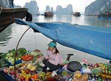 Mercado de flutuação asiático Imagem de Stock Royalty Free