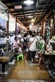 Mercado de flutuação de Amphawa Fotos de Stock