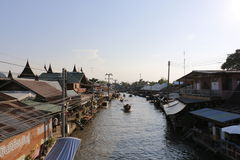 Mercado de flutuação de Amphawa Fotografia de Stock Royalty Free
