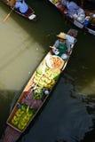 Mercado de flutuação de Damnoen Saduak Imagens de Stock