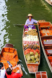 Mercado de flutuação de Damnoen Saduak Fotos de Stock