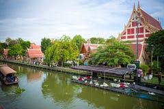 Mercado de flutuação de Kwan-Riam Fotos de Stock Royalty Free