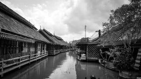 Mercado de flutuação de Pattaya Foto de Stock Royalty Free