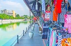 Mercado de flutuação de Pettah da visita em Colombo imagens de stock royalty free
