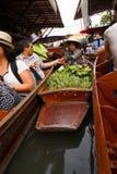 Mercado de flutuação de Tailândia Imagem de Stock