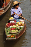 Mercado de flutuação de Tailândia Fotografia de Stock Royalty Free