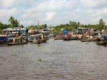 Mercado de flutuação, Mekong-Delta Imagens de Stock