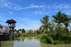 Mercado de flutuação de Tailândia Pattaya Fotos de Stock