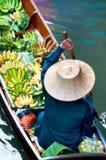 Mercado de flutuação tradicional, Tailândia. Imagem de Stock Royalty Free