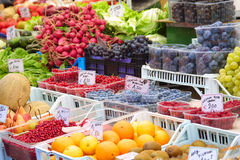 Mercado de fruta Imagem de Stock Royalty Free
