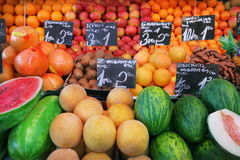 Mercado de fruto fotos de stock