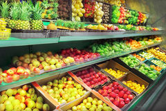 Mercado de fruto fotografia de stock royalty free