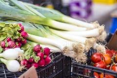 Mercado de fruto da rua na Espanha imagem de stock royalty free