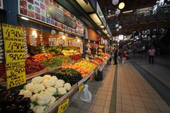 Mercado de fruto em Budapest Fotos de Stock Royalty Free