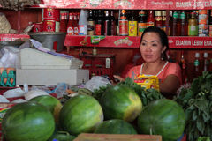 Mercado de fruto em Sanur, Bali Fotos de Stock Royalty Free