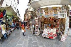 Mercado de Gran Mercato perto de San Lorenzo em Firenze Florença, Itália Fotografia de Stock