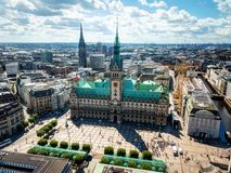 Mercado de Hamburgo foto de stock