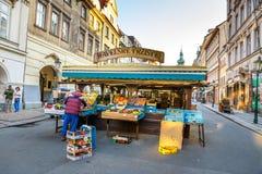Mercado de Havelske Trziste en Praga, mesto de Havelske foto de archivo libre de regalías