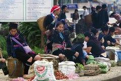 Mercado de Hilltribe em Sapa Fotografia de Stock Royalty Free