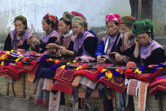 Mercado de Hmong da flor Fotografia de Stock