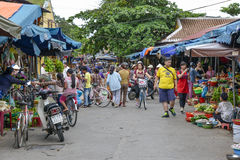 Mercado de Hoi An, Vietnam Imagen de archivo