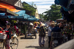 Mercado de Hoi An, Vietname Imagem de Stock