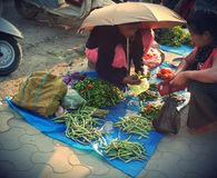 Mercado de IMA en imphal Manipur la India Foto de archivo