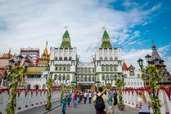 Mercado de Izmailovsky em Moscou, Rússia fotografia de stock royalty free