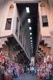 Mercado de Khayamiya Souq no Cairo velho Egito imagens de stock