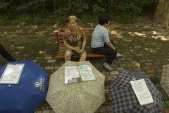 Mercado de la boda en Shangai, China Imágenes de archivo libres de regalías