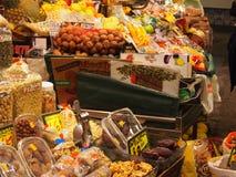Mercado de la boqueria Immagini Stock Libere da Diritti