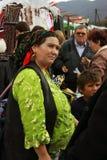 Mercado de la ciudad en Rumania Foto de archivo libre de regalías