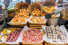 Mercado de la comida Fotos de archivo libres de regalías