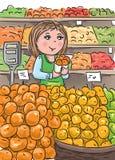 Mercado de la comida Foto de archivo libre de regalías