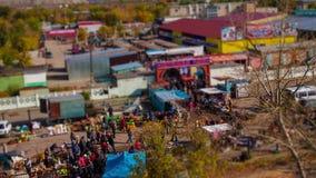 Mercado de la comida de la altura metrajes