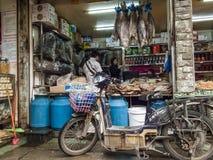 Mercado de la comida en Chengdu, China fotografía de archivo