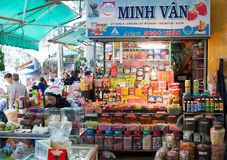 Mercado de la comida en Dalat, Vietnam Fotografía de archivo