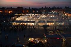 Mercado de la comida en Marrakesh Foto de archivo libre de regalías